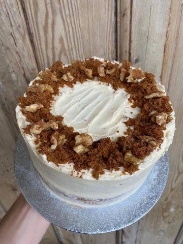 carrot and walnut layer cake