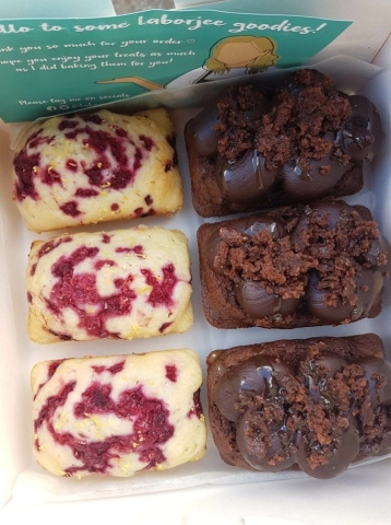 raspberry and lemon, chocolate fudge and salted caramel mini loaf cakes gluten free vegan